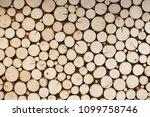 cut round wood  rustic style... | Shutterstock . vector #1099758746