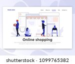 landing page template of online ... | Shutterstock .eps vector #1099765382