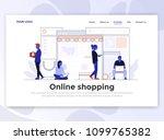 landing page template of online ... | Shutterstock .eps vector #1099765382