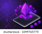 isometry icon blockchain... | Shutterstock .eps vector #1099765775
