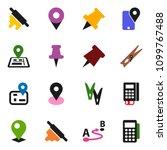 solid vector ixon set  ... | Shutterstock .eps vector #1099767488