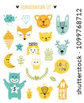 scandinavian doodles elements.... | Shutterstock .eps vector #1099768712