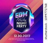edm party poster design... | Shutterstock .eps vector #1099772768
