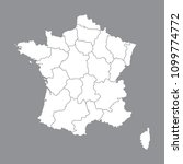blank map france. high quality... | Shutterstock .eps vector #1099774772