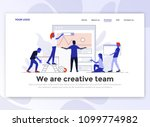 landing page template of... | Shutterstock .eps vector #1099774982
