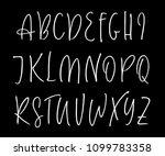 ballpen handwritten vector... | Shutterstock .eps vector #1099783358