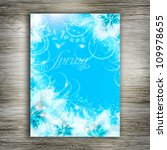 wedding card or invitation with ... | Shutterstock .eps vector #109978655