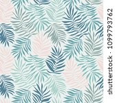 seamless pattern with tropical... | Shutterstock .eps vector #1099793762