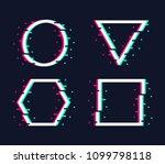 frames set in trendy glitch... | Shutterstock . vector #1099798118