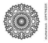isolated mandala in vector.... | Shutterstock .eps vector #1099798205