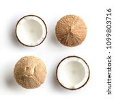 tropical fruit whole and half... | Shutterstock . vector #1099803716