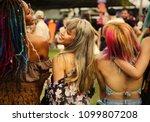 friends having fun at a music... | Shutterstock . vector #1099807208