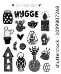 scandinavian doodles elements.... | Shutterstock .eps vector #1099807268