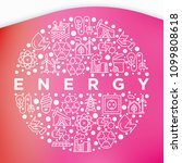 energy concept in circle with... | Shutterstock .eps vector #1099808618