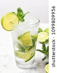 mojito cocktail with fresh... | Shutterstock . vector #1099809956