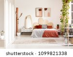 mirror on cabinet next to... | Shutterstock . vector #1099821338