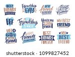 collection of friends and... | Shutterstock .eps vector #1099827452