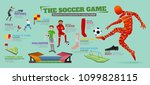 info graphic with equipment and ... | Shutterstock .eps vector #1099828115