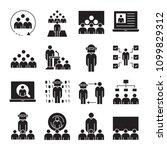 business management  meeting ... | Shutterstock .eps vector #1099829312