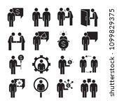 business management  meeting ... | Shutterstock .eps vector #1099829375