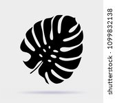 black palm leaf vector icon... | Shutterstock .eps vector #1099832138