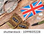 set of british army soldier...   Shutterstock . vector #1099835228