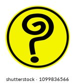 question mark black on a... | Shutterstock .eps vector #1099836566