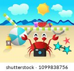 summer vector illustration with ...   Shutterstock .eps vector #1099838756