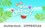 summer vector illustration and...   Shutterstock .eps vector #1099840166