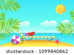 summer vector illustration.   Shutterstock .eps vector #1099840862