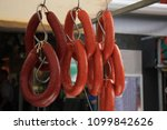 Small photo of Traditional Dutch smoked sausage, eaten with vegetables and mashed potatoes as mash pot