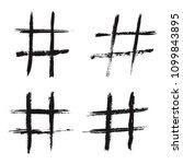 grunge hashtag icons.vector... | Shutterstock .eps vector #1099843895