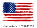 grunge old usa flag.vector... | Shutterstock .eps vector #1099849298