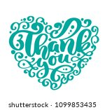 thank you text heart... | Shutterstock .eps vector #1099853435