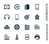 center icon. collection of 16... | Shutterstock .eps vector #1099854176