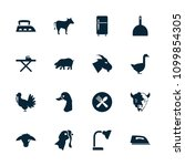 domestic icon. collection of 16 ... | Shutterstock .eps vector #1099854305