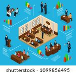 isometric judicial system... | Shutterstock .eps vector #1099856495