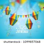 festa junina illustration with...   Shutterstock .eps vector #1099857068