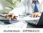 businessman writing and memory... | Shutterstock . vector #1099863122