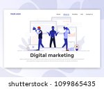 landing page template of... | Shutterstock .eps vector #1099865435