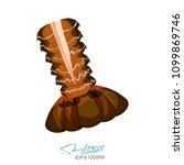 spiny lobster vector... | Shutterstock .eps vector #1099869746