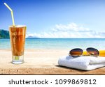 summer photo of free space for... | Shutterstock . vector #1099869812