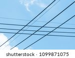 cable on the blue sky | Shutterstock . vector #1099871075