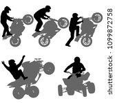 set silhouettes rider...   Shutterstock .eps vector #1099872758