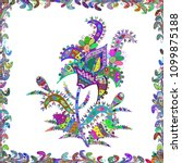 ultrafashionable fabric pattern.... | Shutterstock . vector #1099875188
