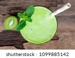 kiwi yogurt fruit juice... | Shutterstock . vector #1099885142