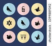 set of 9 peace filled icons... | Shutterstock .eps vector #1099889342