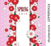 spring sale background with... | Shutterstock .eps vector #1099890416