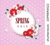 spring sale background with... | Shutterstock .eps vector #1099890422