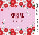 spring sale background with... | Shutterstock .eps vector #1099890446